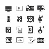 electronic and smart device icons