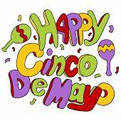 An image of Happy Cinco de Mayo text.