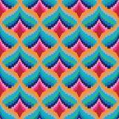 Seamless retro pixel game pattern