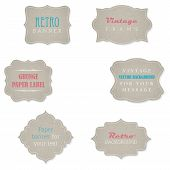 Set Of Retro Grunge Paper Banners With Place For Your Text