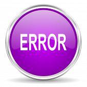 error pink glossy icon