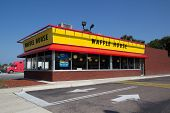 JACKSONVILLE, FL - MAY 21, 2014: A Waffle House in Jacksonville. Waffle House Inc. is a restaurant chain with over 1700 locations found in 25 states in the United States.
