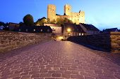 Fortress in Town Runkel. Germany