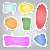 Colorful speech bubbles collection set