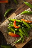 Organic Green Spicy Serrano Peppers