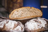 Handmade artisan bread in a medieval fair