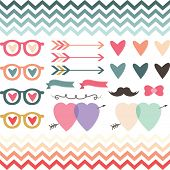 Retro Wedding Valentine's Design Element- Illustration