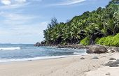 picture of deserted island  - lovely deserted beach at Silhouette island Seychelles - JPG