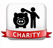 charity button fund raising raise money to help donate give a generous donation or help with the fun