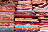 To The Fabric Market In The Medina Of Tunis - Tunisia