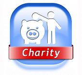 charity button fund raising raise money to help donate give a generous donation or help with the fundraise gifts