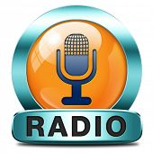 radio live stream on air Listen  music song audio or radio button or icon