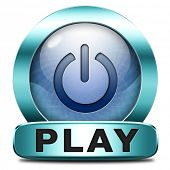 play game or video clip or watch movie online or in live stream, multimedia button banner or icon