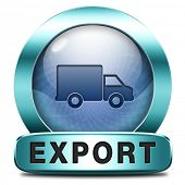 stock photo of export  - export icon international trade logistics freight transportation world economy exportation of products - JPG