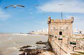 Essaouira: the Portuguese castle. Essaouira is a city in the western Morocco, on the Atlantic coast, Africa.