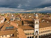 Cityscape of Modena, medieval town situated in Emilia-Romagna, Italy