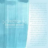Blue watercolor background. Vector banner for your design.