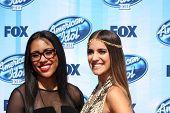 LOS ANGELES - MAY 21:  Malaya Watson; Emily Piriz at the American Idol Season 13 Finale at Nokia The