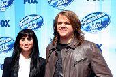 LOS ANGELES - MAY 21:  Jena Irene, Caleb Johnson at the American Idol Season 13 Finale at Nokia Theater at LA Live on May 21, 2014 in Los Angeles, CA