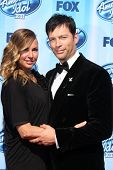 LOS ANGELES - MAY 21:  Jill Goodacre, Harry Connick Jr at the American Idol Season 13 Finale at Nokia Theater at LA Live on May 21, 2014 in Los Angeles, CA