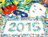 Carnival 2015 masks streamers confetti party