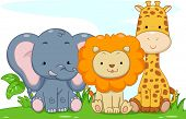 Illustration Featuring Cute Baby Safari Animals