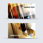 Abstract card template for business artwork, with place for your text