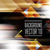 Abstract geometry triangle background with sparks and flashes. Vector Illustration, Graphic Design E