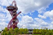 Arcelormittal Observation Tower And London Olympic Stadium