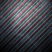 Metal template background with red caution stripe