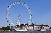 The London Eye, County Hall And The River Thames