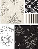 Floral Vector Seamless Patterns and Icons.