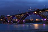 The Peace Bridge, which is one of the main border crossings between Canada and the United States, ru