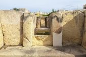 Hagar Qim, ancient Megalithic Temple of Malta, is a unesco world heritage site on the island nation