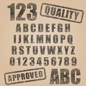 Vector Stamp Abc