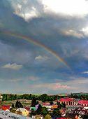 Rainbow over the city Kutna Hora