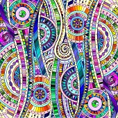 foto of eastern culture  - Original drawing tribal doddle ethnic pattern - JPG