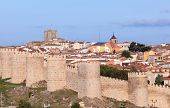 Old City Wall In Avila, Spain