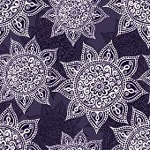 Ethnic seamless pattern with mandala and paisley.