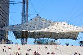: Tent of the Grande Arche in the La Defence