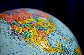 Close Up Globe Of The World