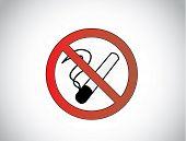 No Smoking Health Medical Symbol Icon Illustration Design Unique Art