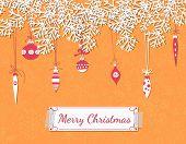 stock photo of teardrop  - Christmas scrapbook card - JPG