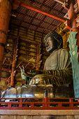 Great Buddha At Todai-ji Temple.