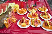 Sweet Fruits And Vegetable Pieces In Plate - Asia Market, India