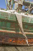 Ship Wreck With Fishing Net