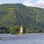 Maeuseturm In Bingen, Germany Rhine Valley