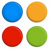 4 Colored Magnets / Buttons