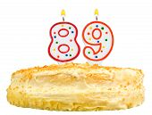 Birthday Cake Candles Number Eighty Nine Isolated