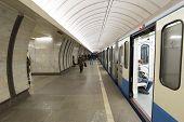 MOSCOW, RUSSIA 11.05.2014.  metro station Savelovskaya, Russia.  Metro carries over 7 million passen
